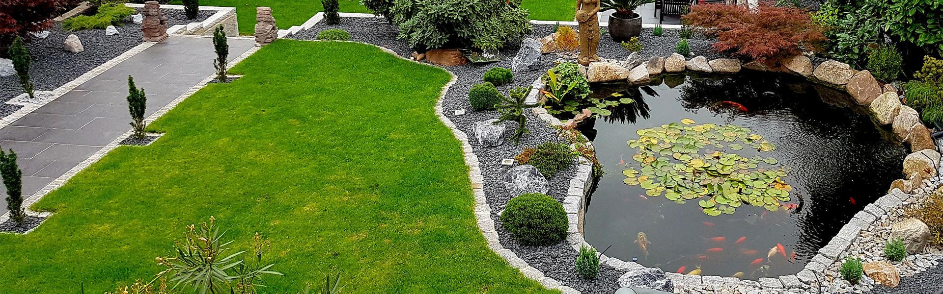 Bild von Gartengestaltung mit Teichbau